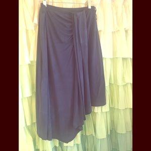 HD in Paris indigo asymmetrical skirt